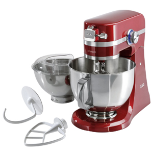 AEG KM4000 UltraMix Kitchen Machine - Watermelon Red